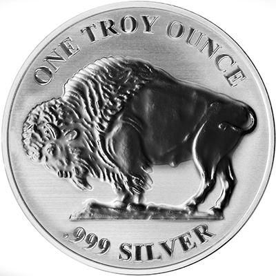 Reverse of Buffalo Silver Round