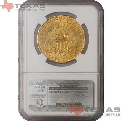 Reverse of $20 Liberty Gold Double Eagle MS-62