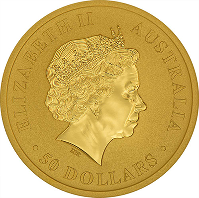 Obverse of 1/2 oz Australian Gold Kangaroo