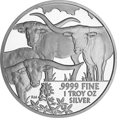 Reverse of 2014 Texas Silver Round