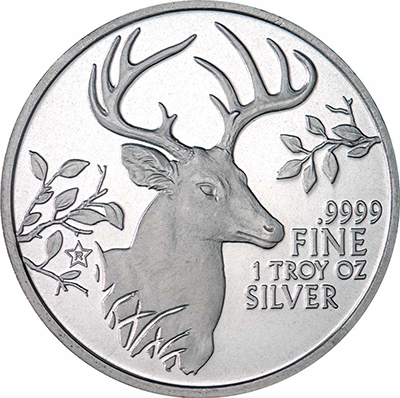 Reverse of 2015 Texas Silver Round