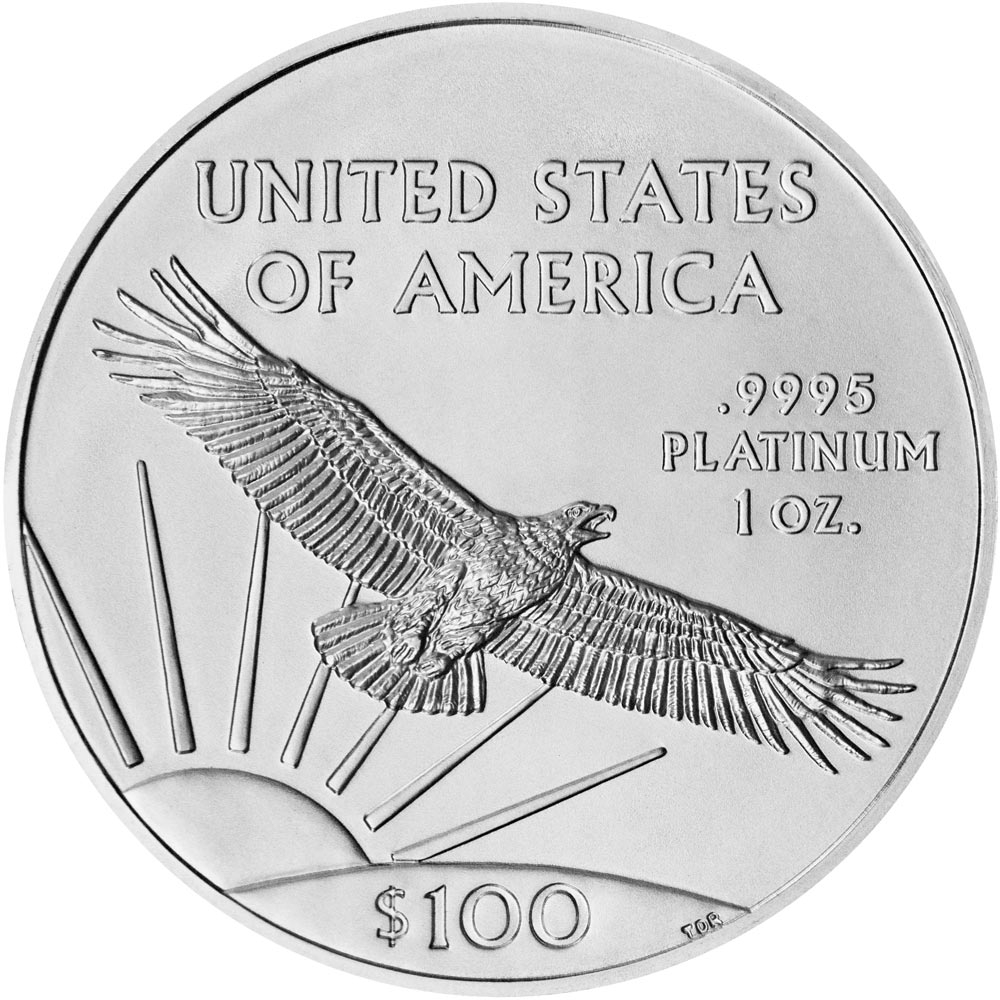 Reverse of American Platinum Eagle Coin (Any Year)