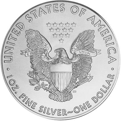 Reverse of 2017 American Silver Eagle Coin