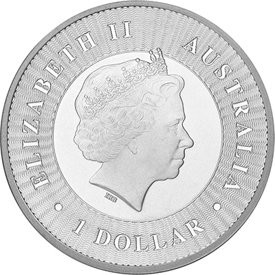 Obverse of 2017 Perth Mint Silver Kangaroo