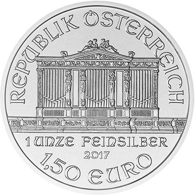 Buy 2017 Austrian Silver Philharmonic reverse