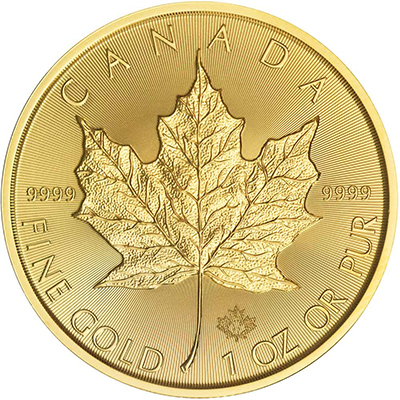 Reverse of 2017 Canadian Maple Leaf Gold Coin
