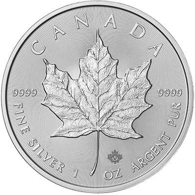 Reverse of 2017 Canadian Silver Maple Leaf Coin