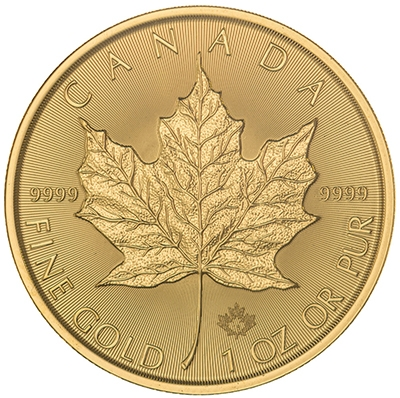 Reverse of 2018 Canadian Maple Leaf Gold Coin