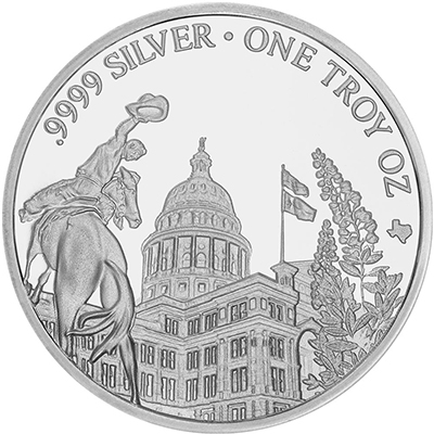 Reverse of 2018 Texas Silver Round Mini-Monster Box