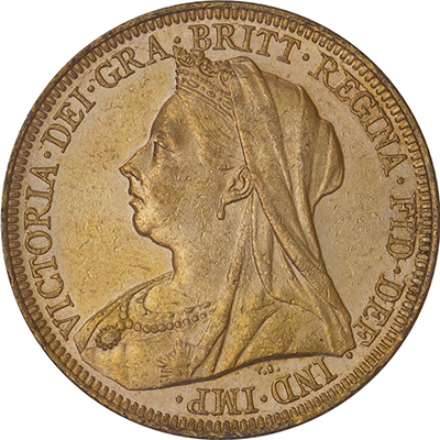 Obverse of British Sovereigns
