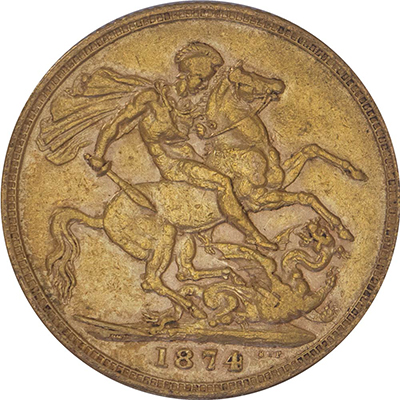 Reverse of British Sovereigns