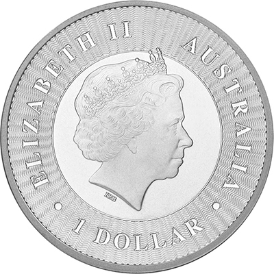 Obverse of Perth Mint Silver Kangaroo (Any Year)