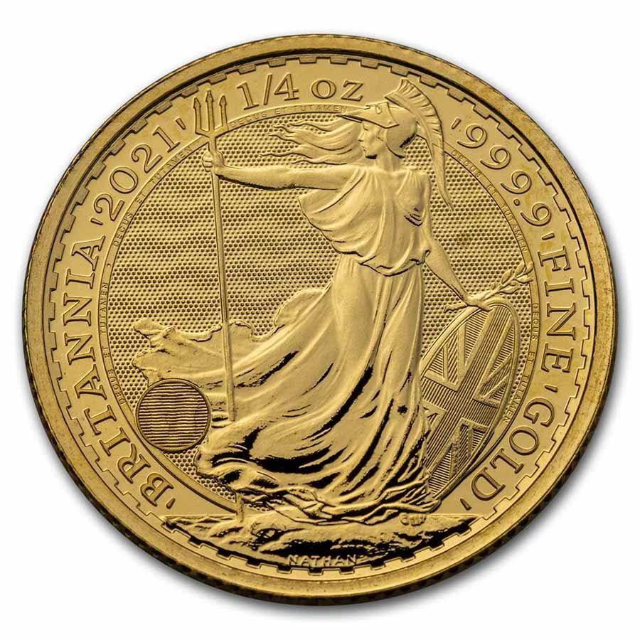1/4 oz Royal Mint Gold Britannias Reverse