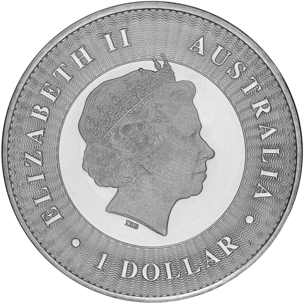 Obverse of 2016 Perth Mint Silver Kangaroo