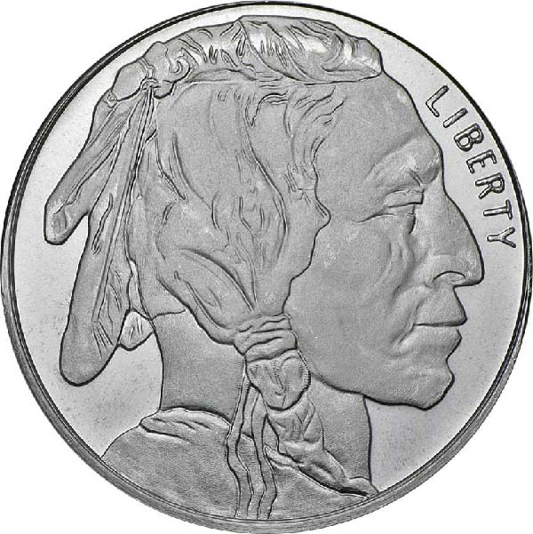 Obverse of Buffalo Silver Round